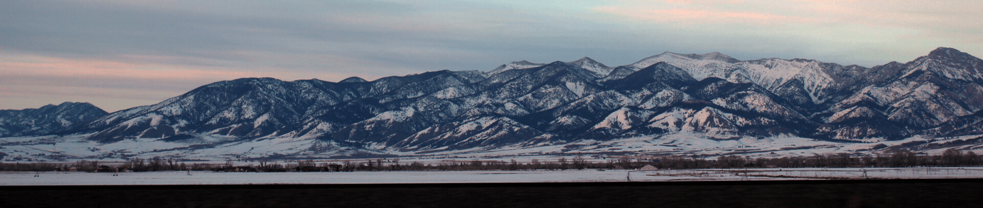 a scenic photo of the Bridger Mountains in Bozeman, Montana