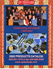 OP/TECH USA 2002 Catalog Cover