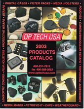 OP/TECH USA 2003 Catalog Cover
