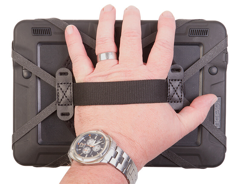 the Tablet Hand Strap keeps a Tablet cradled in your palm