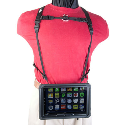 Tablet Double Harness with Tablet hanging down