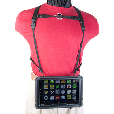 Kindle Fire Double Harness with Kindle hanging down